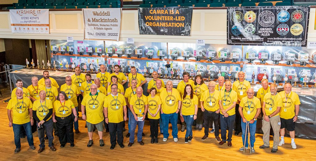 An image showing some of our festival volunteers